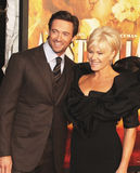 Hugh Jackman and Deborra-Lee Furness Jackman. Actor Hugh Jackman and wife Deborra-Lee Furness Jackman arrive on the red carpet for the premiere of Australia at Stock Images