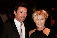 Hugh Jackman, Deborra-Lee Furness. NEW YORK-SEP 17: Hugh Jackman (L) and wife Deborra-Lee Furness attend the 14th annual New Yorkers For Children Fall Gala at Royalty Free Stock Photos