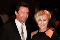 Hugh Jackman, Deborra-Lee Furness. NEW YORK-SEP 17: Hugh Jackman (L) and wife Deborra-Lee Furness attend the 14th annual New Yorkers For Children Fall Gala at Stock Photo