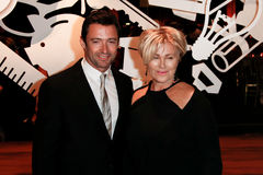 Hugh Jackman, Deborra-Lee Furness. NEW YORK-SEP 17: Hugh Jackman (L) and wife Deborra-Lee Furness attend the 14th annual New Yorkers For Children Fall Gala at Stock Photos