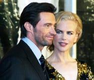 Hugh Jackman en Nicole Kidman Royalty-vrije Stock Foto's