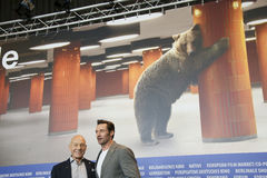 Hugh Jackman, Patrick Stewart Royalty-vrije Stock Fotografie