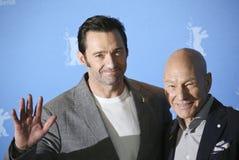 Hugh Jackman and Patrick Stewart Stock Photo