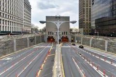 Hugh L Carey/Brooklyn batteritunnel arkivbilder