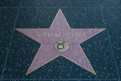 Hugh M Hefner Hollywood Star fotografia de stock royalty free