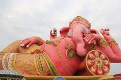 Hugh Pink Genesha, het olifant-deity die een muis, één berijden van stock foto