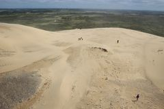 Hugh sand dune in Rubjerg Knude, North West Denmark. Stock Images