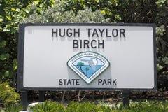 Hugh Taylor Birch State Park Sign Foto de archivo libre de regalías