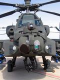 Hughes AH-64 Apache Attack Helicopter. A head-on view of an Hughes AH-64 Apache Attack Helicopter Stock Images