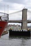 Hughes Harbor Brooklyn Bridge Royaltyfria Foton