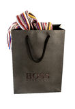 Hugo Boss Black Shopping Bag With Contents On Royalty Free Stock Images
