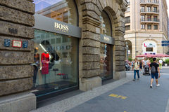 Hugo Boss boutique at Friedrichstrasse Stock Images