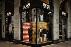 Hugo Boss boutique Milan Royalty Free Stock Photography