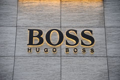 Hugo boss brand Royalty Free Stock Photos