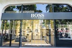 Hugo Boss Fashion Boutique royalty free stock photos