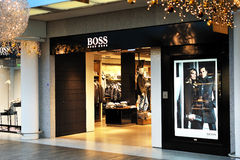 Hugo Boss fashion store Stock Image
