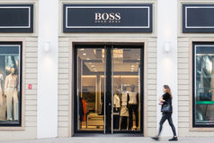 Hugo Boss fashion store Royalty Free Stock Images