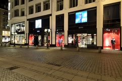 Shopping street in Hamburg, Germany Stock Photos