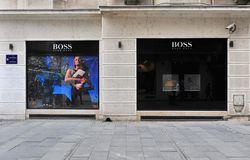 Hugo Boss store Royalty Free Stock Images