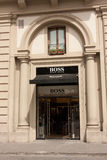 Hugo Boss Store. Florence, Italy - June 22, 2013: Hugo Boss boutique at Piazza Della Repubblica. Hugo Boss AG is a German luxury fashion and style house, June 22 Stock Image
