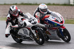 HUGO CASADESUS and FEDERICO FULIGNI (Moto 3) Royalty Free Stock Image