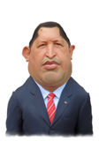 Hugo Chavez caricature Portrait. For editorial use Royalty Free Stock Photo