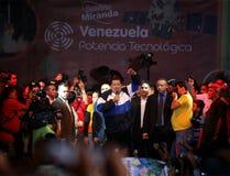 Hugo Chavez, President van Venezuela stock afbeeldingen