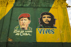 Hugo Chavez y Che Guevara Havana imágenes de archivo libres de regalías