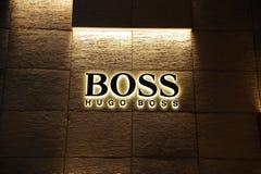 Hugo-Chefmarke lizenzfreie stockbilder