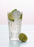 Hugo cocktail with lime, mint and ice Stock Photo