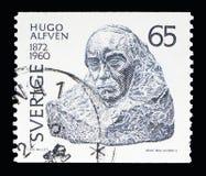 Hugo Emil Alfven, Verjaardagen van Culturele Beroemdheden serie, c Royalty-vrije Stock Foto