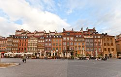 Hugo Kollataj Side of Old Town Market Place. Warsaw, Poland Stock Photo