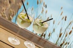 Hugo prosecco elderflower soda ice summer drink Stock Photography