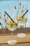 Hugo prosecco elderflower soda ice summer drink Stock Images