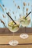 Hugo prosecco elderflower soda ice summer drink Royalty Free Stock Images