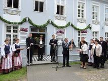 Hugo Scheu Manor House, Litauen Stockbild