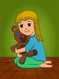 Hugs for a bear Royalty Free Stock Photo