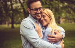 Hugs are important for a happier life. royalty free stock photo