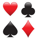 Poker Shapes Stock Image