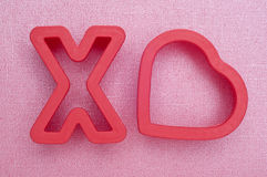 Hugs and Kisses Cookie Cutters Royalty Free Stock Photography