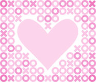 Hugs and Kisses Heart Background/eps Stock Image