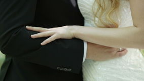 Hugs weddings stock footage