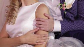 Hugs weddings stock video footage