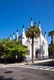 Huguenot Kirche in Charleston Stockbilder