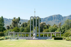 Huguenot monument in Franschoek Royalty Free Stock Photo