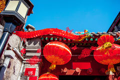Huguosi Street in the district of Xicheng Beijing Royalty Free Stock Images
