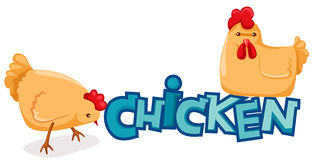 Huhn stock abbildung