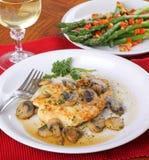 Huhn-Abendessen Lizenzfreie Stockbilder