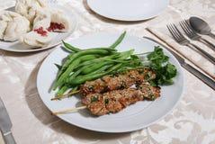 Huhn-Abendessen stockbilder