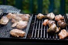 Huhn auf einem Grill Lizenzfreies Stockfoto